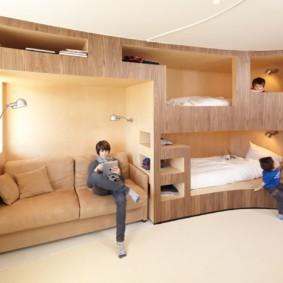 детская комната для троих детей варианты идеи