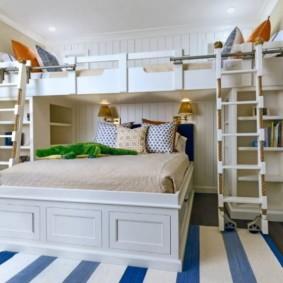 детская комната для троих детей виды фото