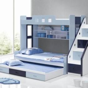 детская комната для троих детей виды декора