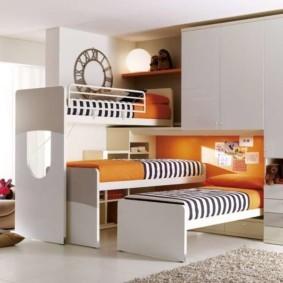 детская комната для троих детей виды оформления