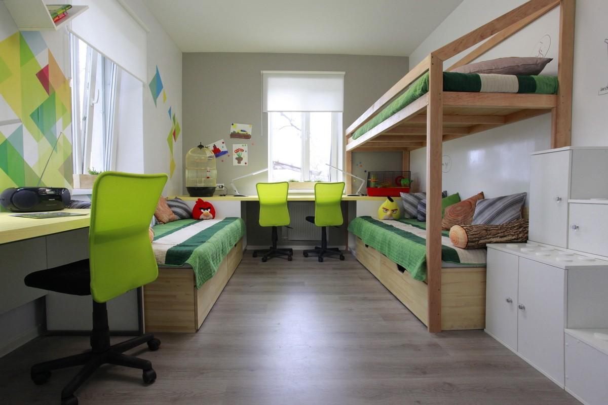 детская комната для троих детей дизайн идеи