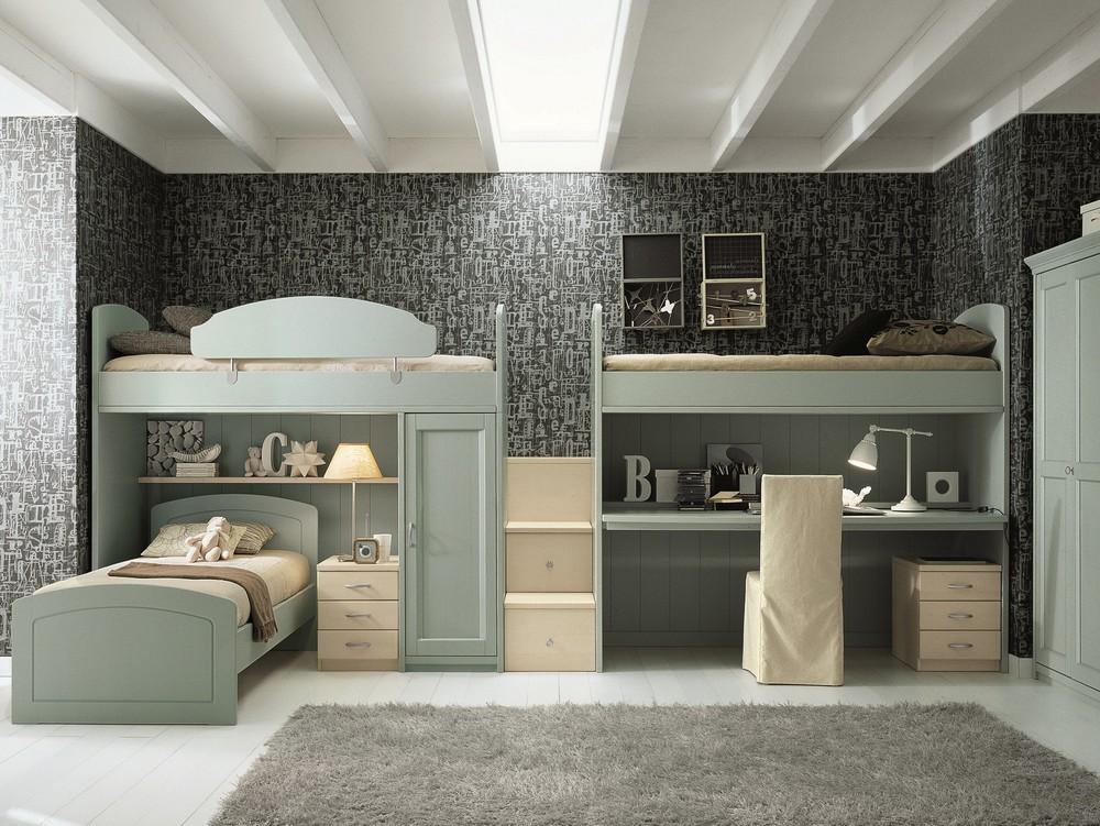 детская комната для троих детей фото интерьер