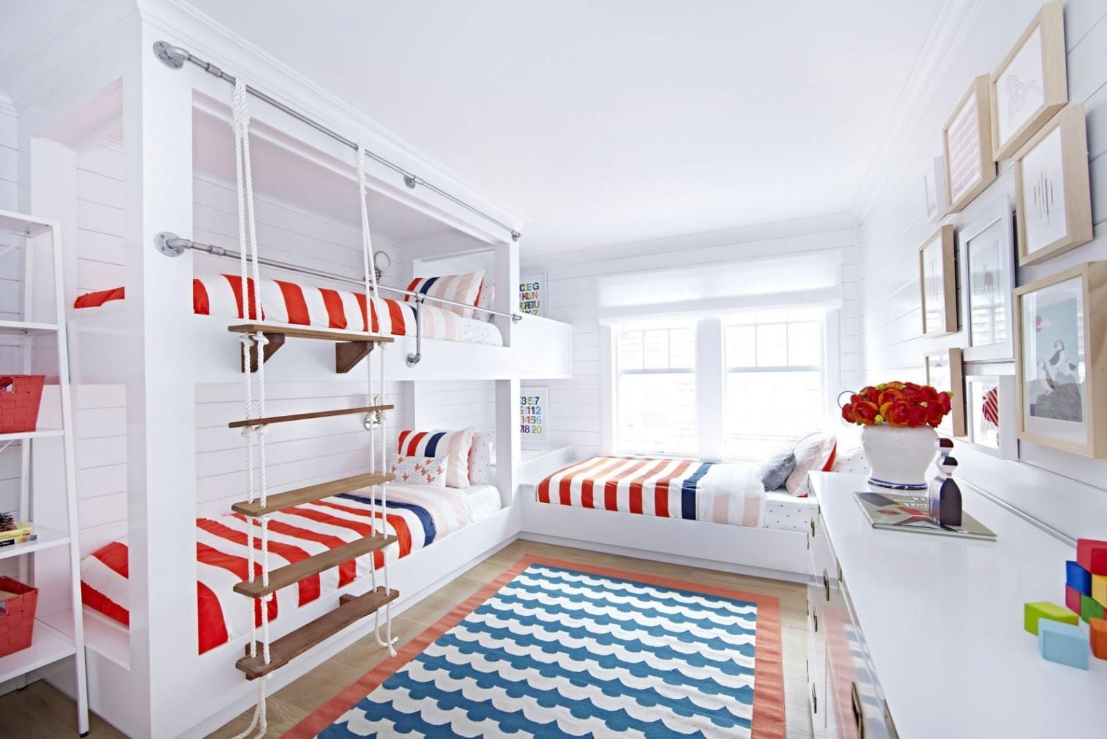 детская комната для троих детей идеи интерьер