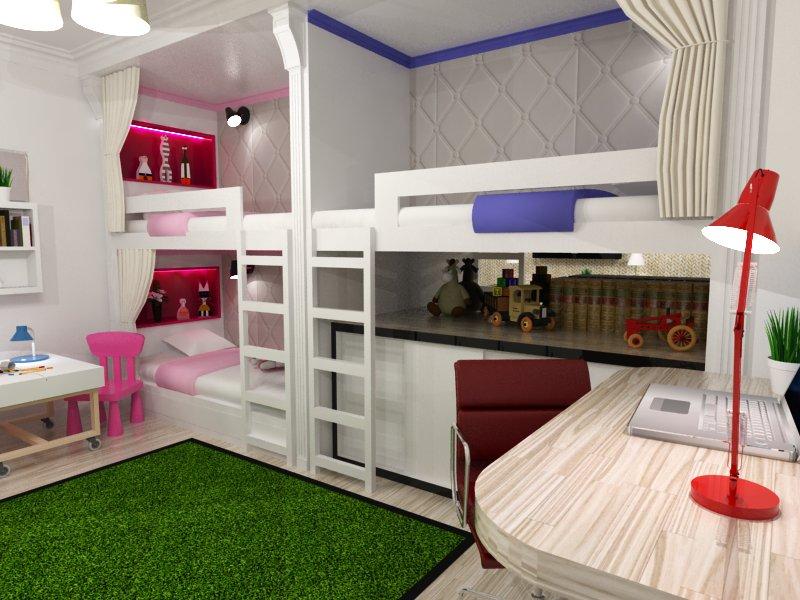 детская комната для троих детей идеи оформления