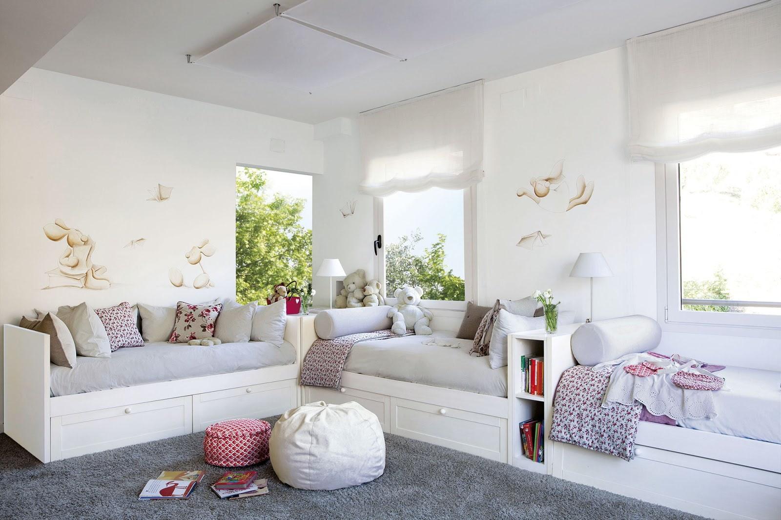 детская комната для троих детей идеи