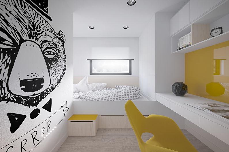 детская комната в стиле хай тек