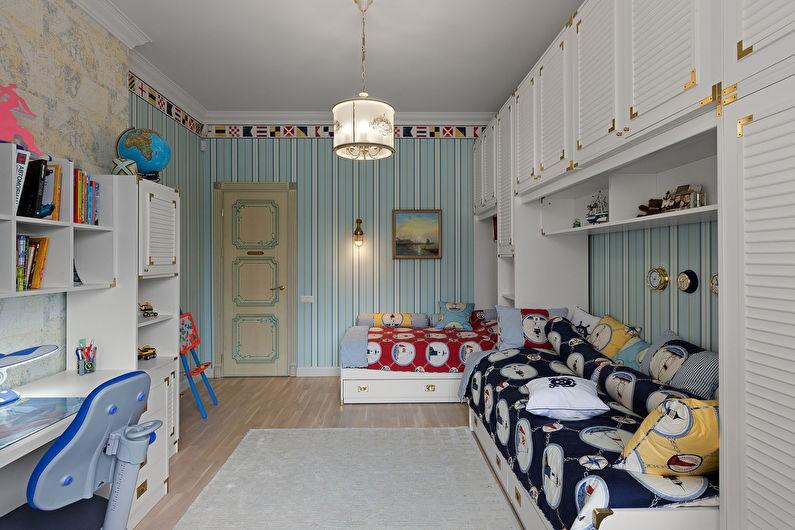 откидные кровати в детской комнате для разнополых детей