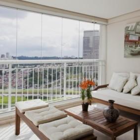 диван на балкон идеи декор