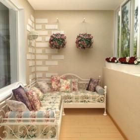 диван на балкон интерьер фото