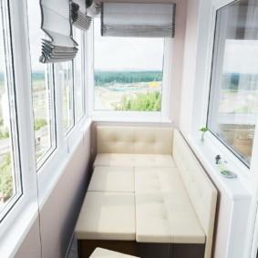диван на балкон идеи интерьер