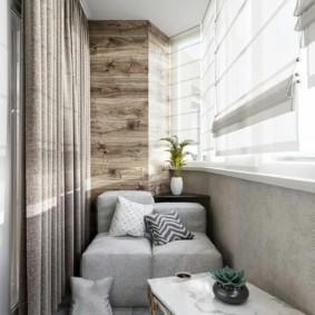 диван на балкон фото оформления