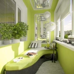 диван на балкон варианты идеи