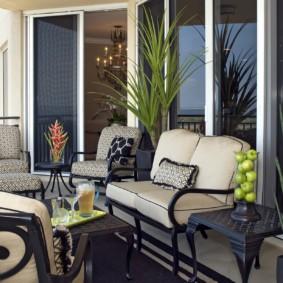 диван на балкон виды дизайна