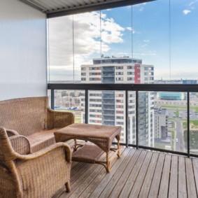 диван на балкон фото дизайна