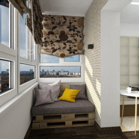 диван на балкон дизайн идеи