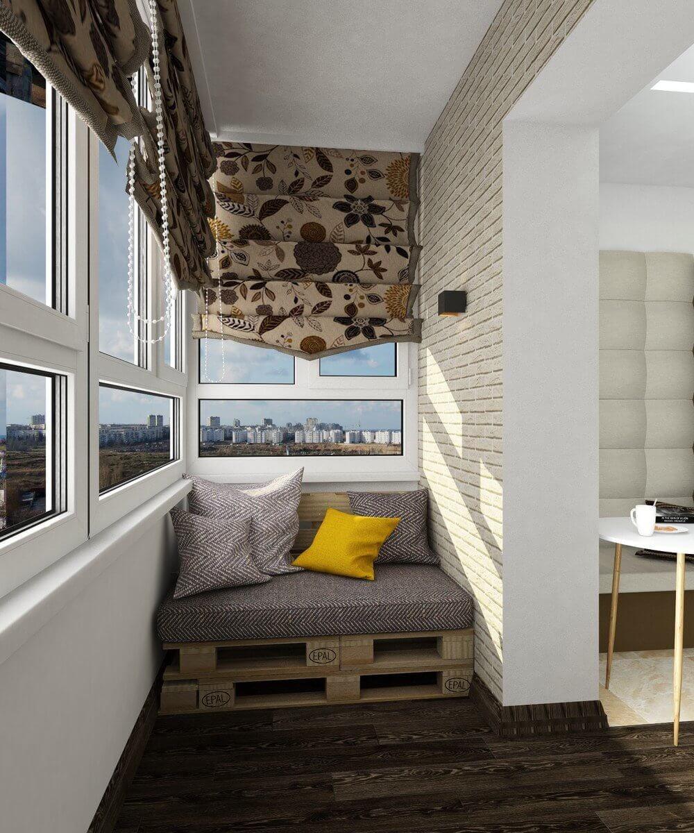 Угловые балконы дизайн фото