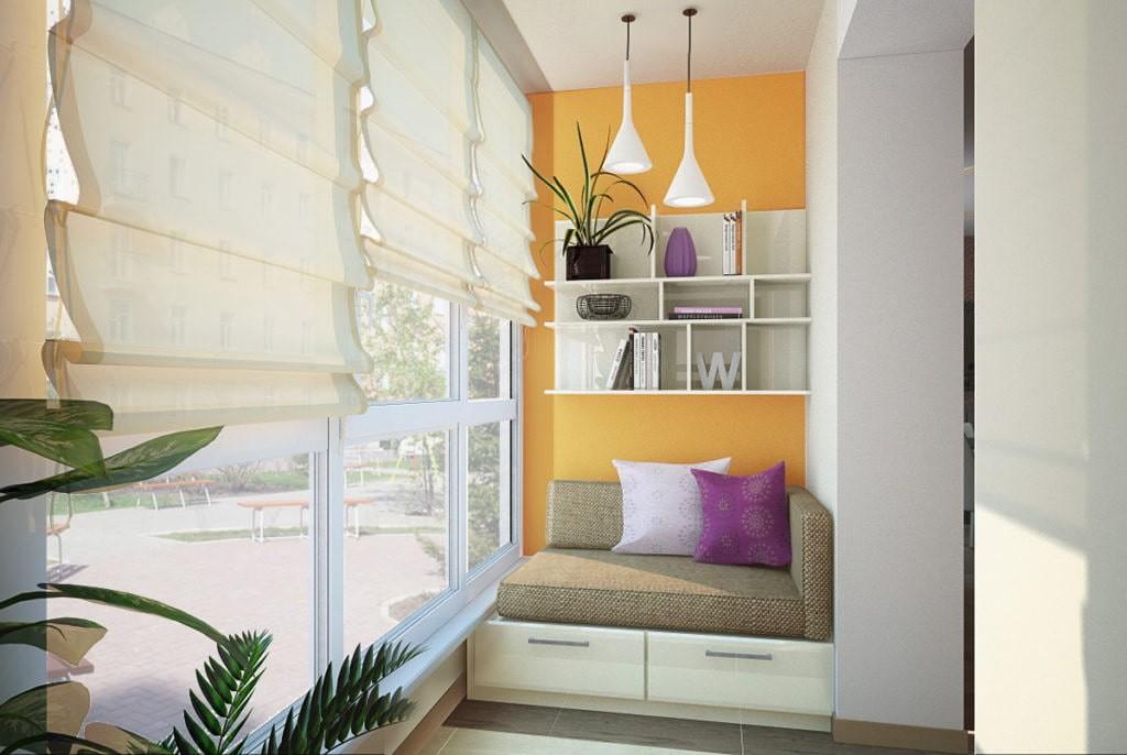 диван на балкон идеи виды