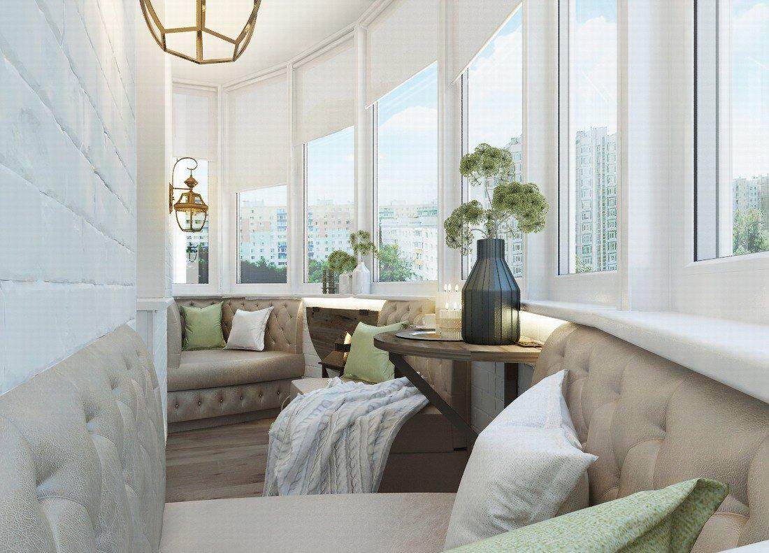 диван на балкон классический вариант