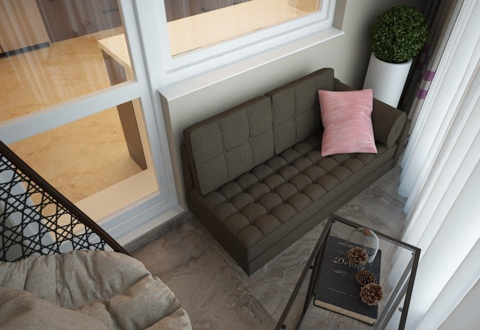 диван на балкон примеры