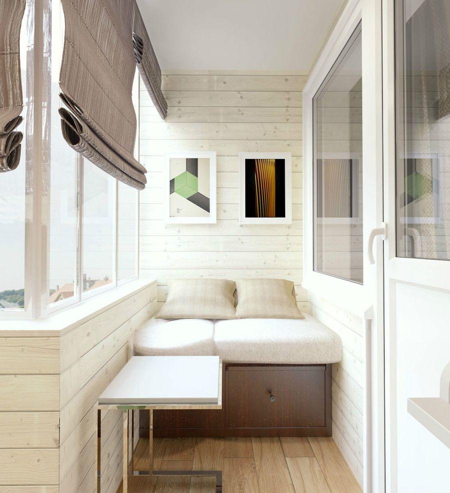 диван на балкон скандинавский вариант