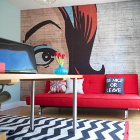диван в гостиную декор идеи