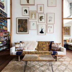 диван в гостиную оформление фото