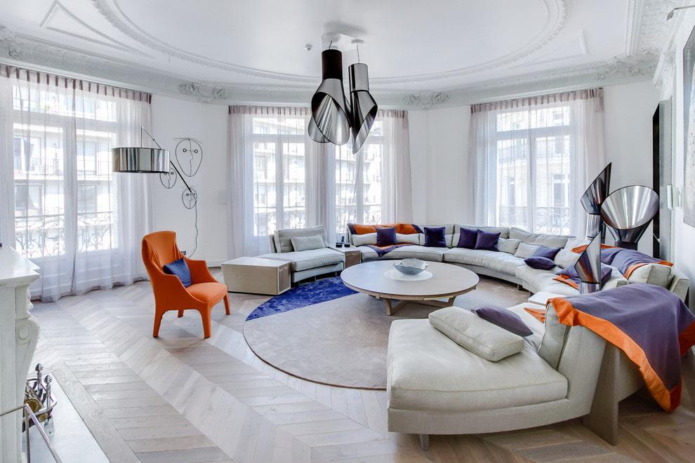 диван в гостиную полукруглый