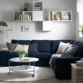 диван в гостиной виды декора