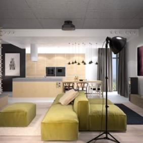 диван в гостиной дизайн