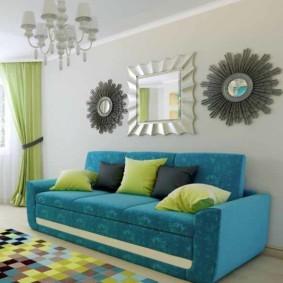 диван в гостиной идеи дизайна