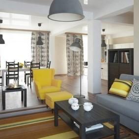 диван в гостиной оформление