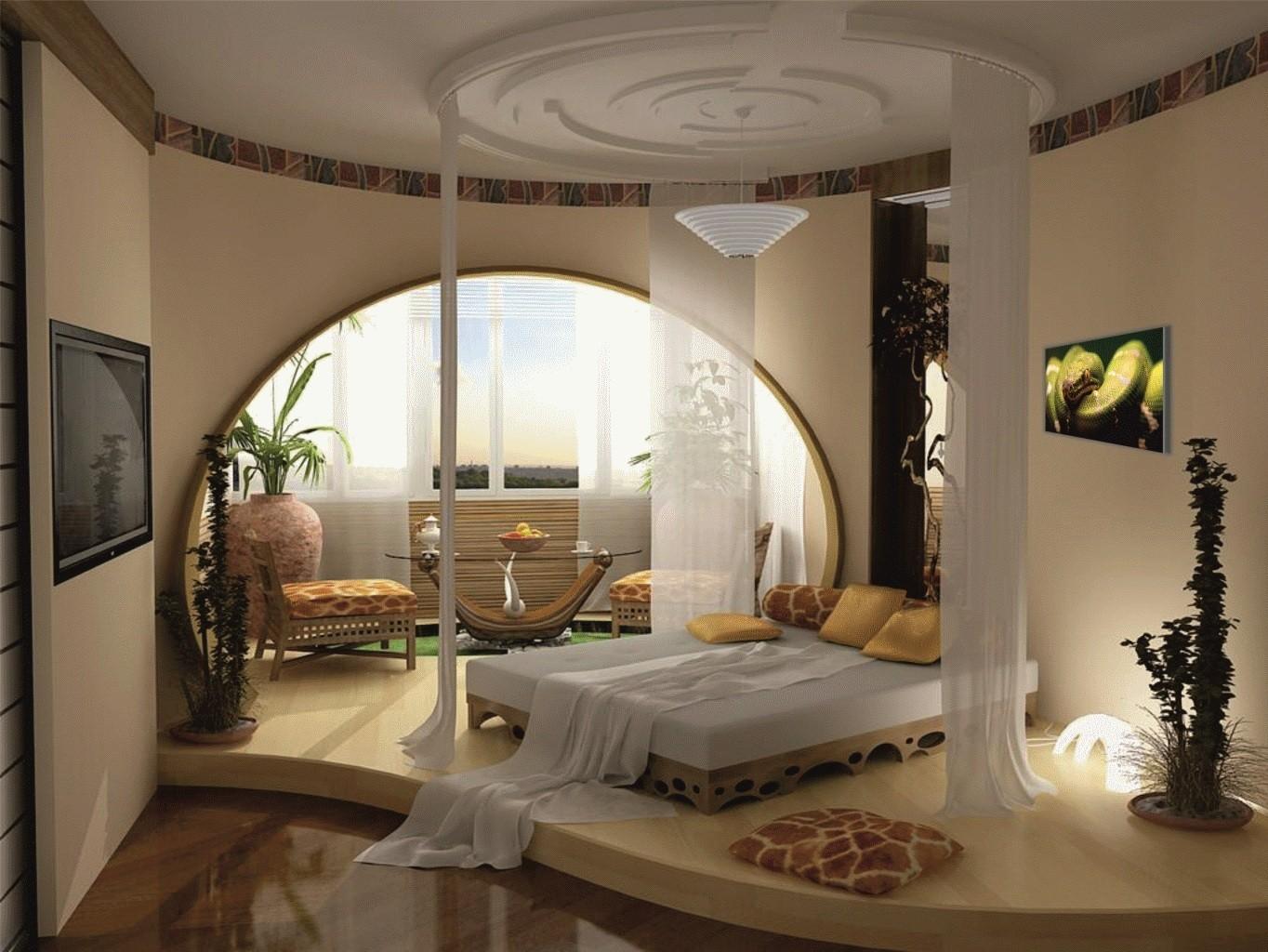 дизайн арки в спальне