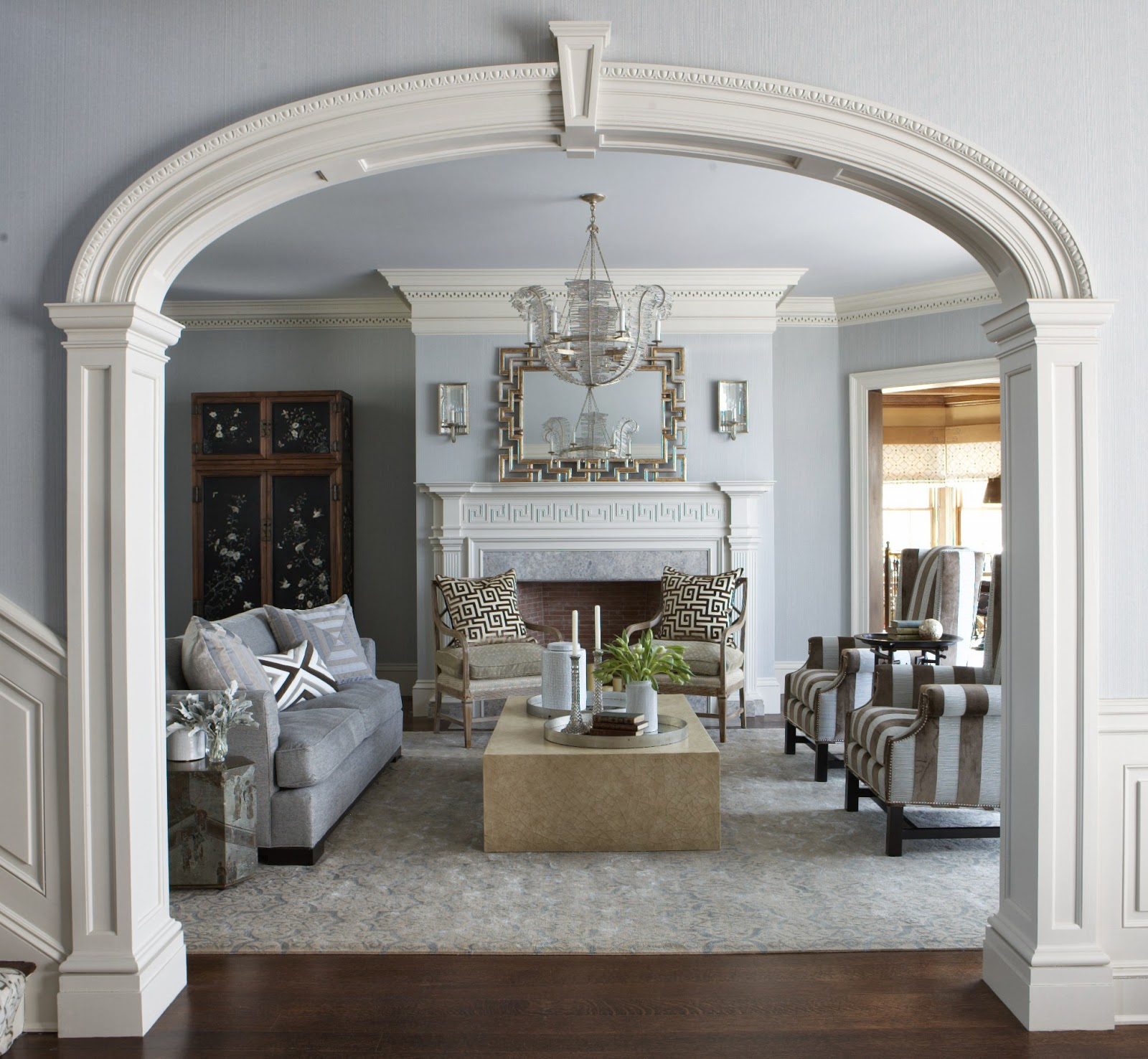 дизайн арки в интерьере квартиры лепнина