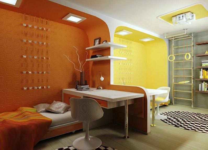 дизайн детской комнат для разнополых детей освещение
