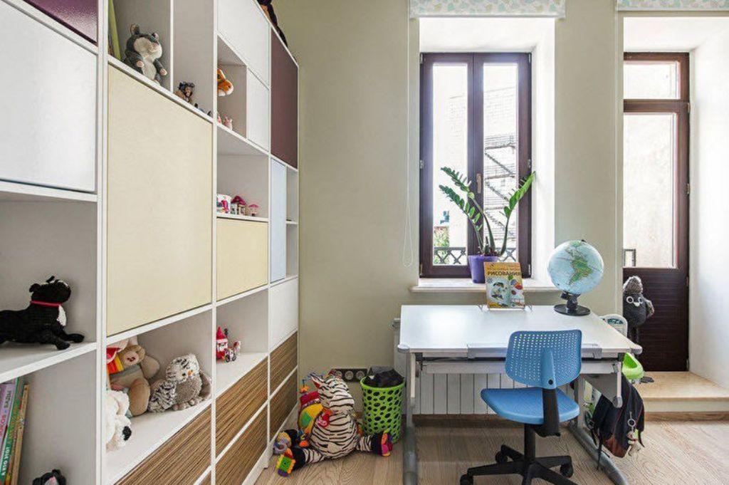 детская комната с рабочей зоной
