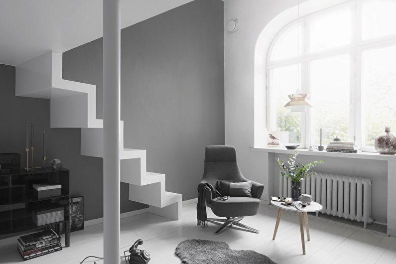 дизайн гостиной в серых тонах 17 кв м
