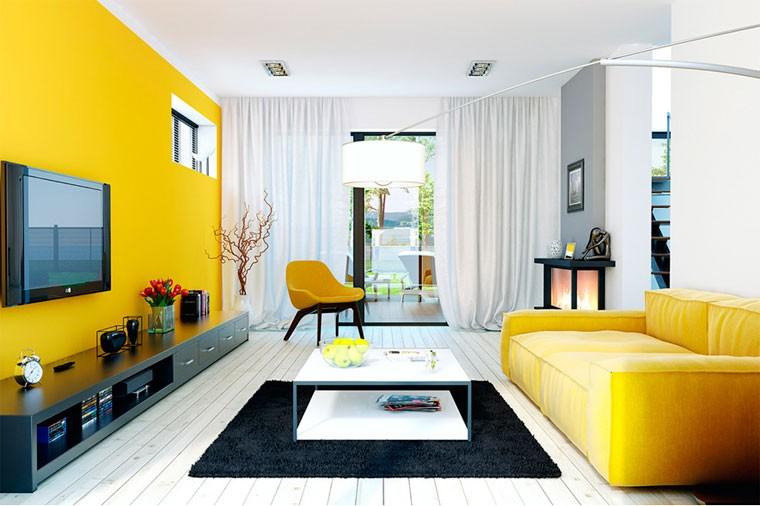 гостиная 17 кв м в желтых тонах