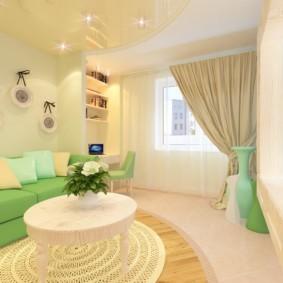 дизайн квартиры распашонки варианты