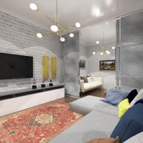 дизайн квартиры распашонки идеи оформления
