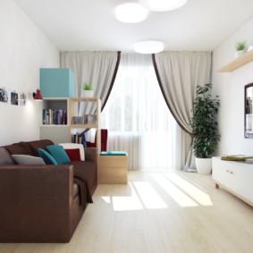 дизайн квартиры распашонки виды идеи