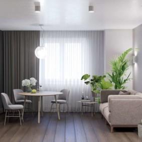 дизайн квартиры распашонки фото