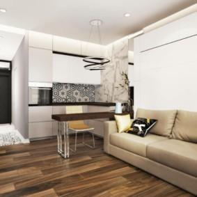 дизайн квартиры распашонки интерьер
