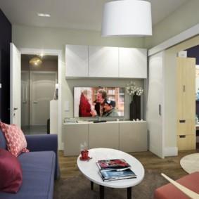 дизайн квартиры распашонки оформление фото