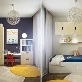 дизайн квартиры распашонки виды фото