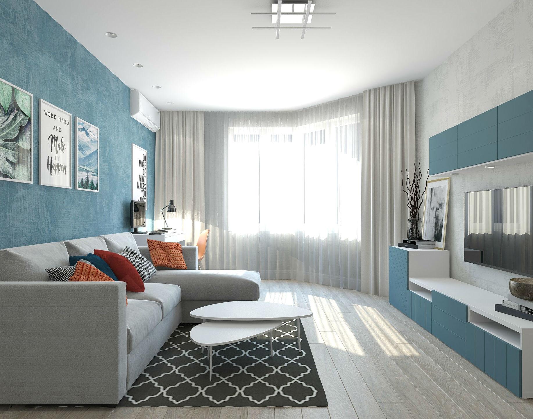 дизайн квартиры распашонки
