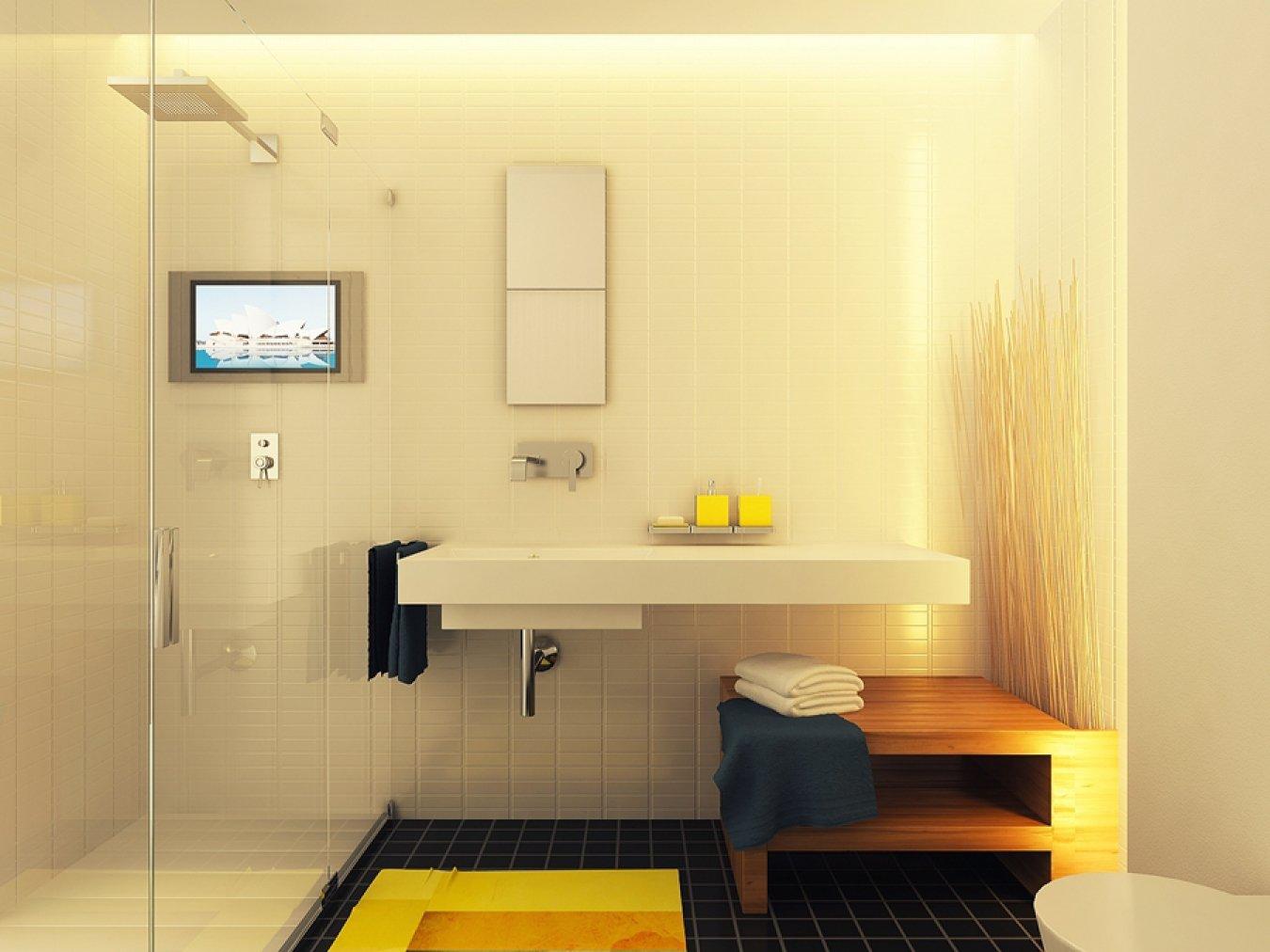 ванная в квартире студии 28 кв м