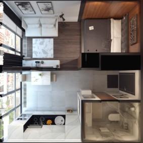 квартира студия площадью 28 кв м идеи декор
