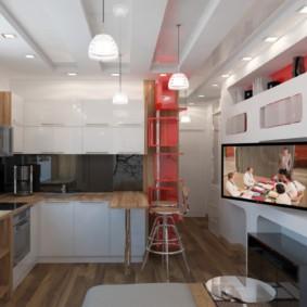 квартира студия площадью 28 кв м идеи интерьера