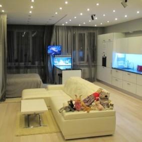 квартира студия площадью 28 кв м виды декора