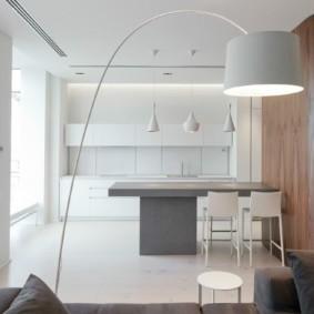 дизайн квартиры в стиле минимализм фото кухни